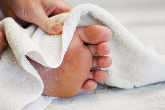 voeten-drogen